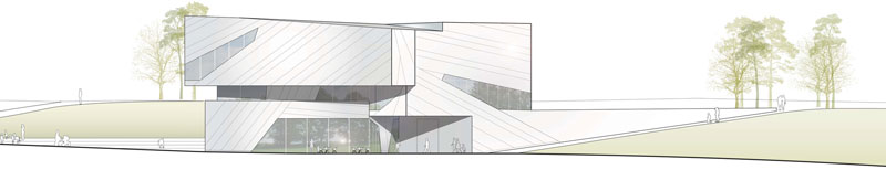 Building plan of the PALAON Research Experience Centre in Schoningen Germany by Holzer Kobler Architects