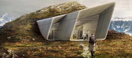 Zaha Hadid Designs Messner Mountain Museum at Plan de Corones