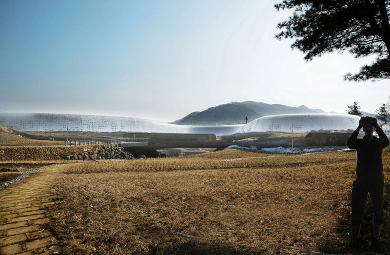 Architecture of the Jeongok Museum South Korea Prehistory Museum by X-TU Architects