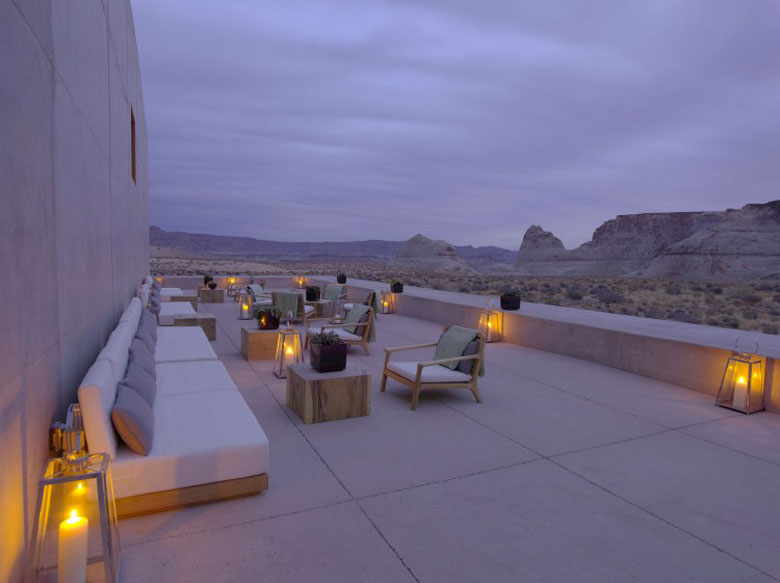 Terrace at the Amangiri Luxury Hotel Resort in Canyon Point Utah