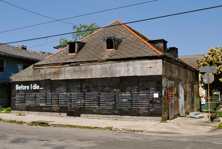 Before I Die wall by Candy Chang in New Orleans