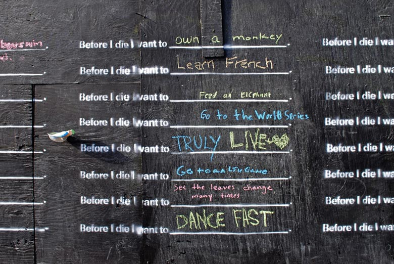 Before I Die wall by Candy Chang