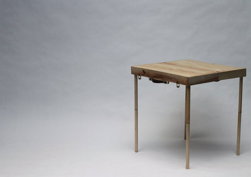 Table built with the BOXED Multi Functional Furniture by Tyrone Stoddart