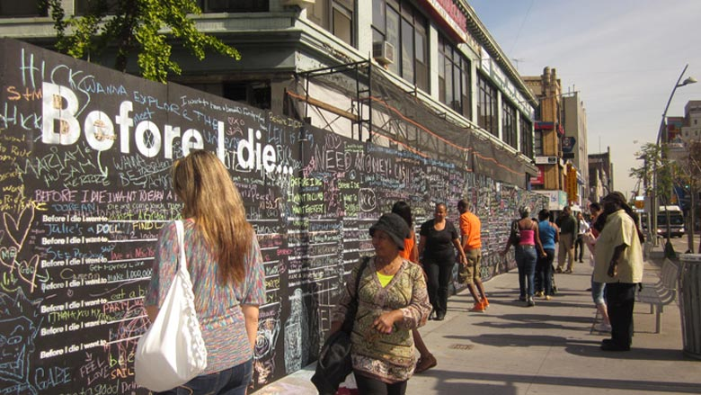 Before I Die wall by Candy Chang in Brooklyn