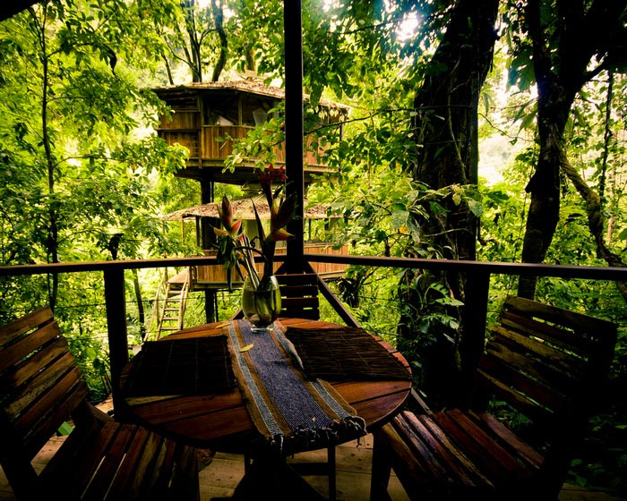 Terrace at the Finca Bellavista Treehouse Community in Costa Rica