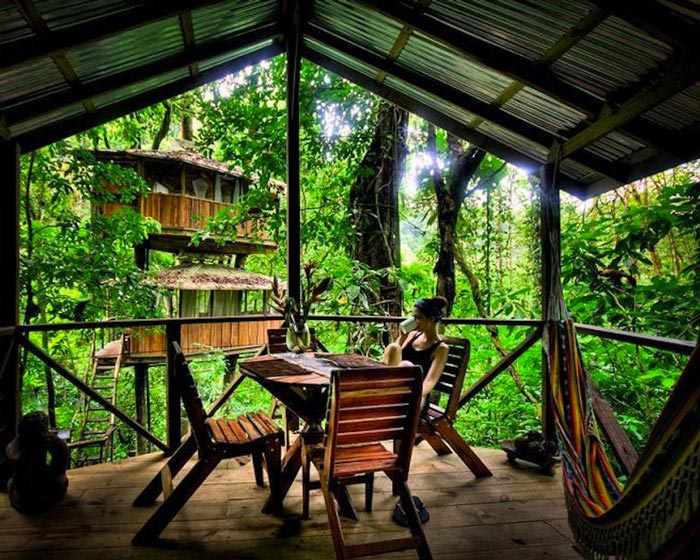 Patio at the Finca Bellavista Treehouse Community in Costa Rica