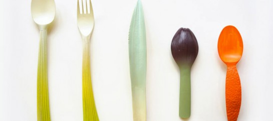 'GRAFT' Biodegradable Vegetable Resembling Utensils and Tableware