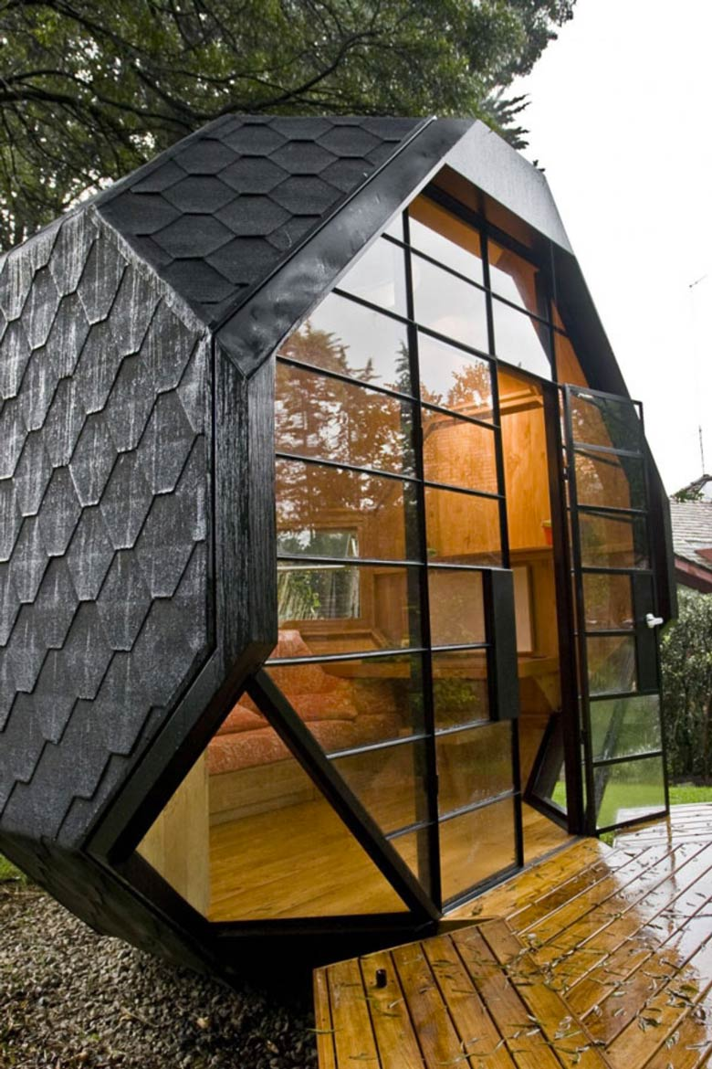 Architecture of the Habitable Polyhedron Garden Office by Manuel Villa
