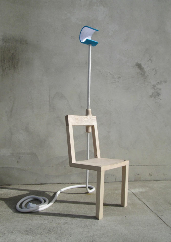 Front side view of the Lambent Chair by Glen Lewis Steele