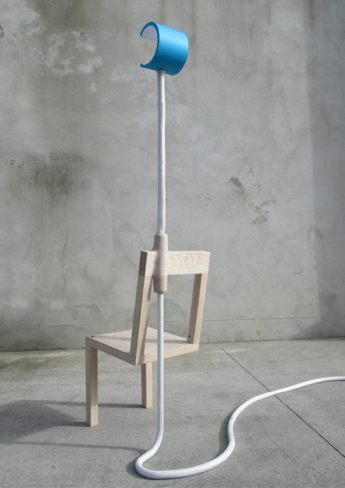 Rear view of the Lambent Chair by Glen Lewis Steele