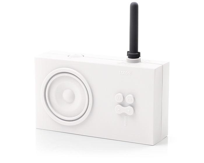 White Lexon Tykho Spash Shock Proof Radio
