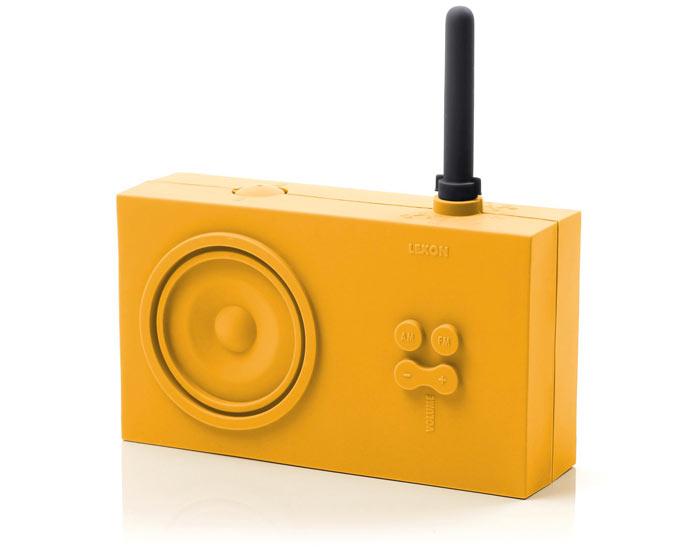 Orange Lexon Tykho Spash Shock Proof Radio