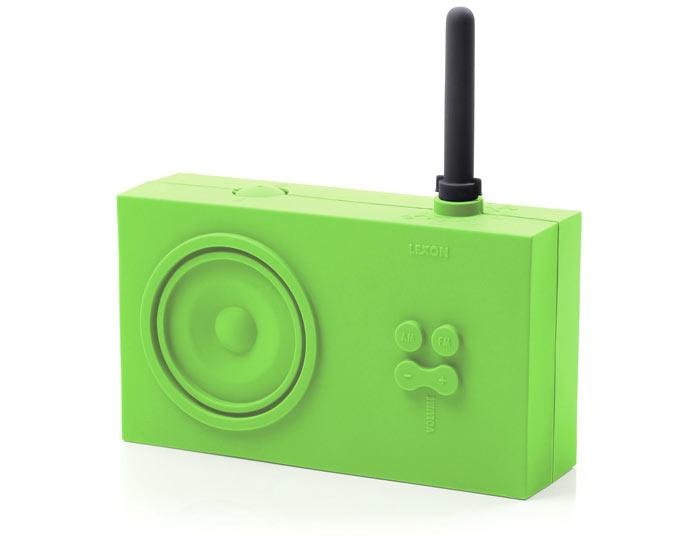 Green Lexon Tykho Spash Shock Proof Radio