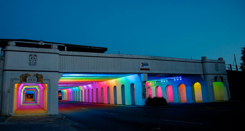 LightRails Underpass in Birmingham by Bill FitzGibbons on Jebiga