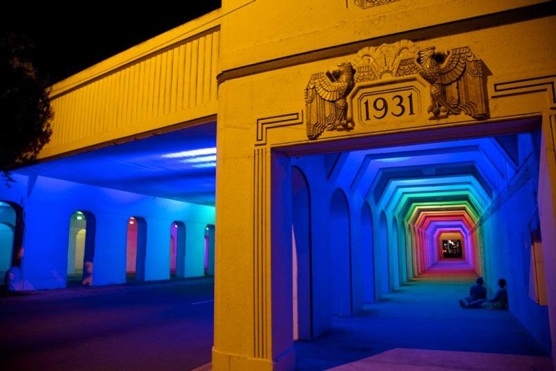 LightRails Underpass in Birmingham by Bill FitzGibbons