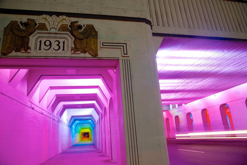 Hallway at the LightRails Underpass in Birmingham by Bill FitzGibbons
