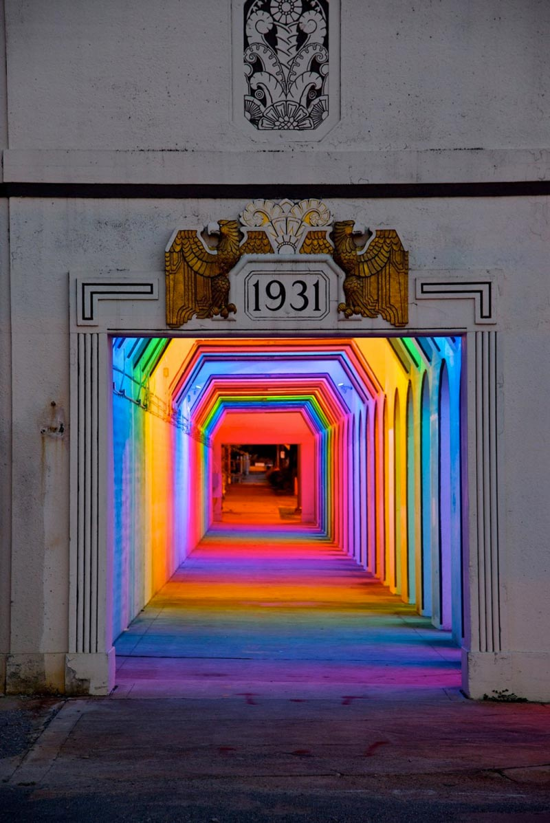 A passage at the LightRails Underpass in Birmingham by Bill FitzGibbons