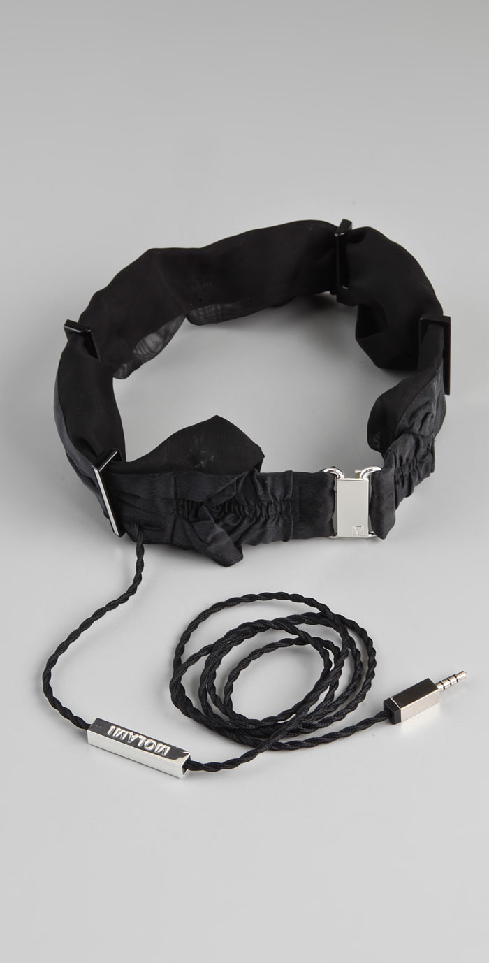 Black Molami Twine Headphones with wire