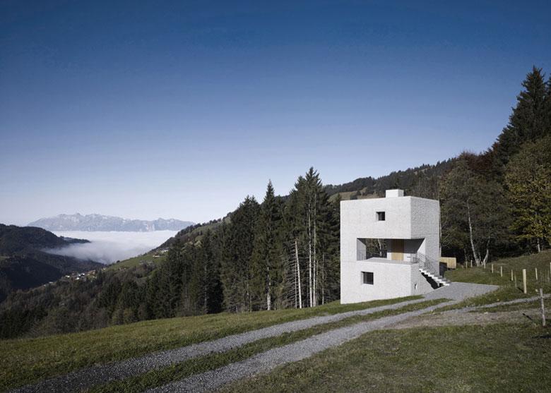 Architecture of the Mountain Cabin by Marte.Marte in Voralberg Austria