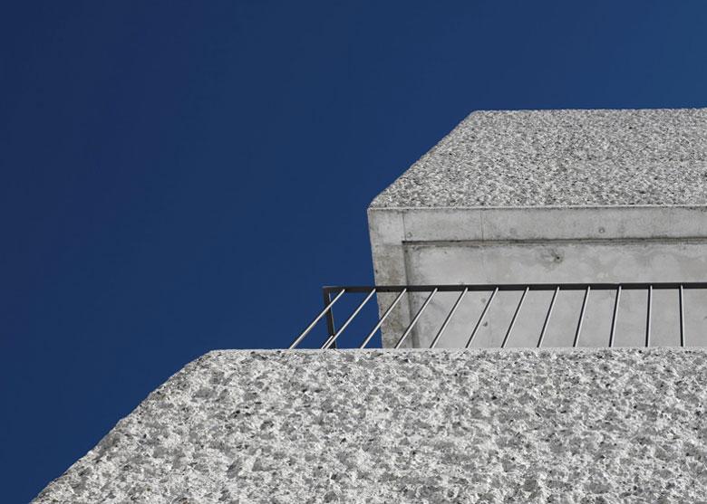 Concrete wall of the Mountain Cabin by Marte.Marte in Voralberg Austria