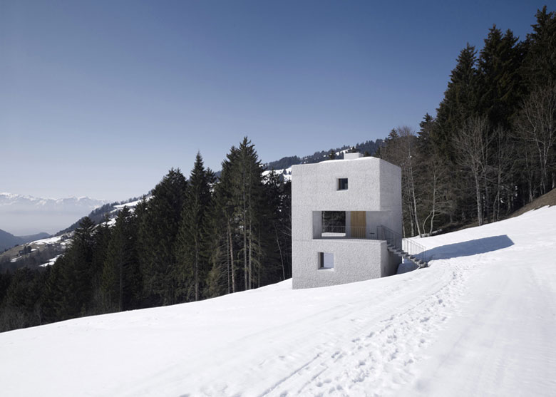 Mountain Cabin surrounded by snow by Marte.Marte in Voralberg Austria