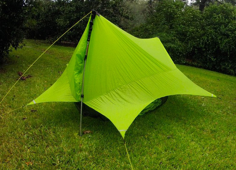 Green Nube Hammock Shelter by Sierra Madre - Nubé - Hammock Shelter And Storage By Sierra Madre