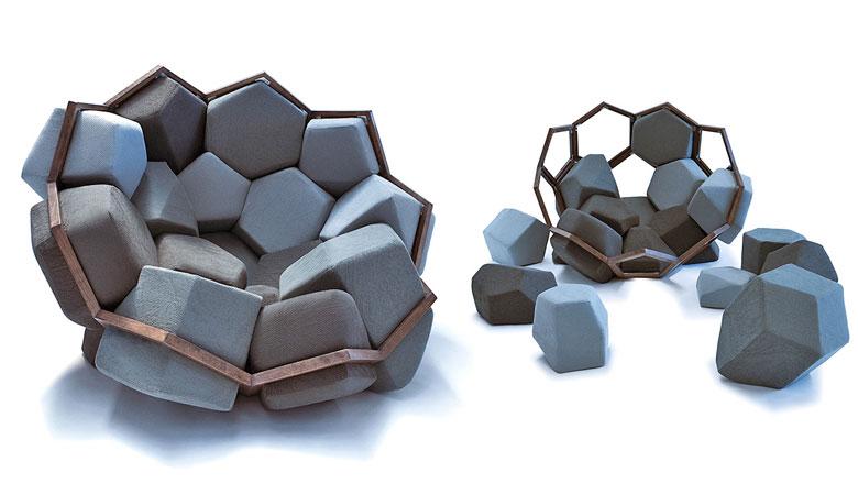 Quartz Armchair by CTRL ZAK and Davide Barzaghi Jebiga