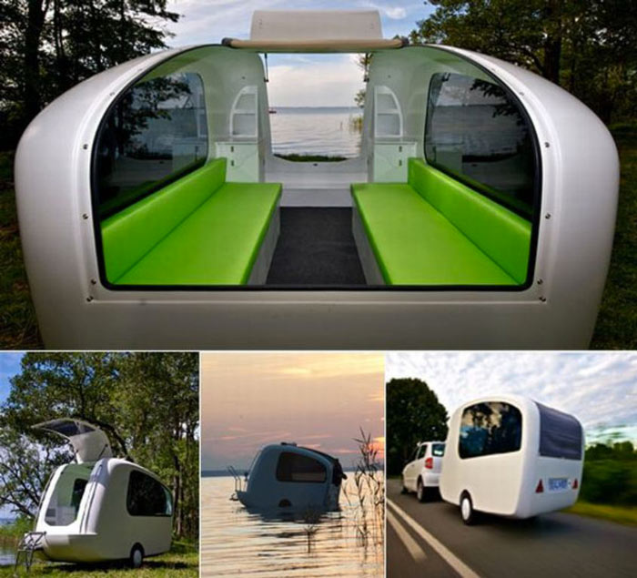 Sealander swimming caravan Sealander caravan