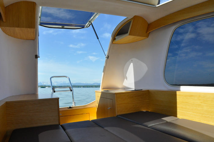 Interior of the SEALANDER Swimming Amphibious Caravan