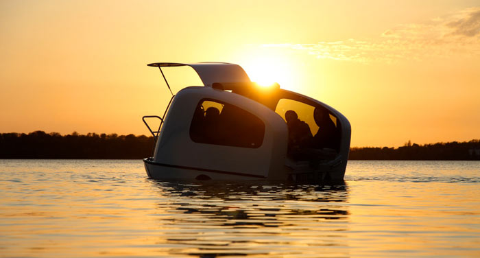 SEALANDER Swimming Amphibious Caravan on Jebiga