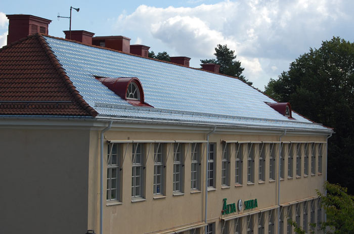Soltech System Solar Roof Panels by Soltech Energy installed on a building's roof