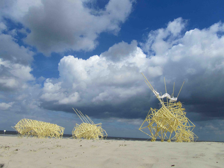 Strandbeest kinetic animal sculptures by Theo Jansen 8