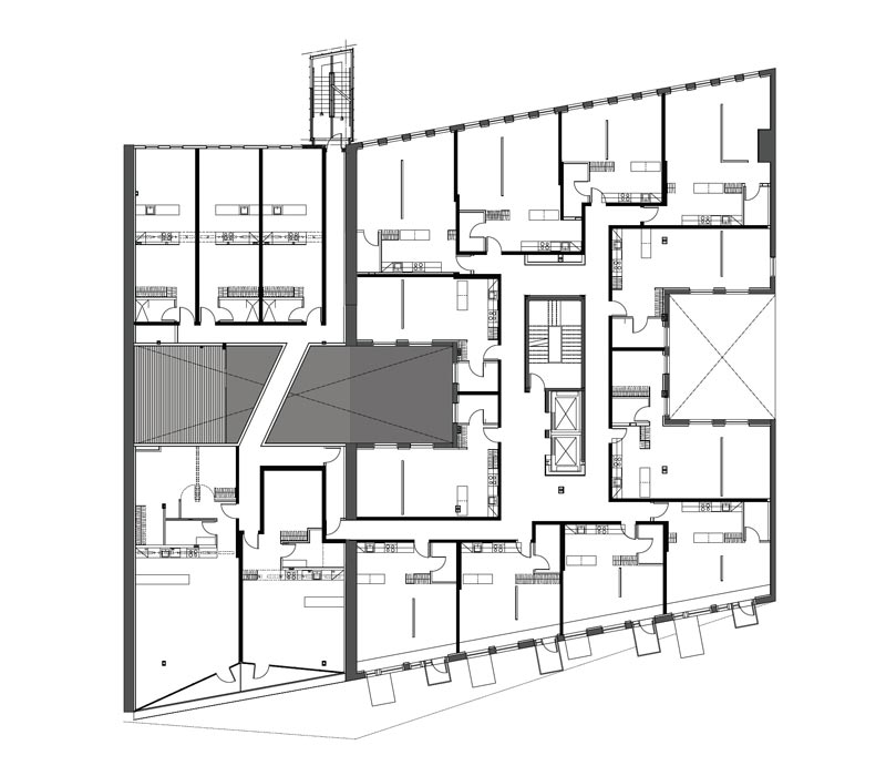 Floor plans of The Avenue On Portage by 5468796 Architecture