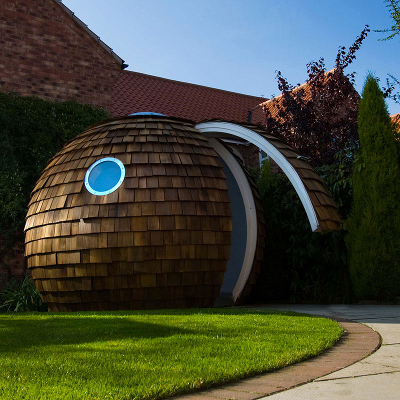 The pod garden office by archipod for Garden office pod