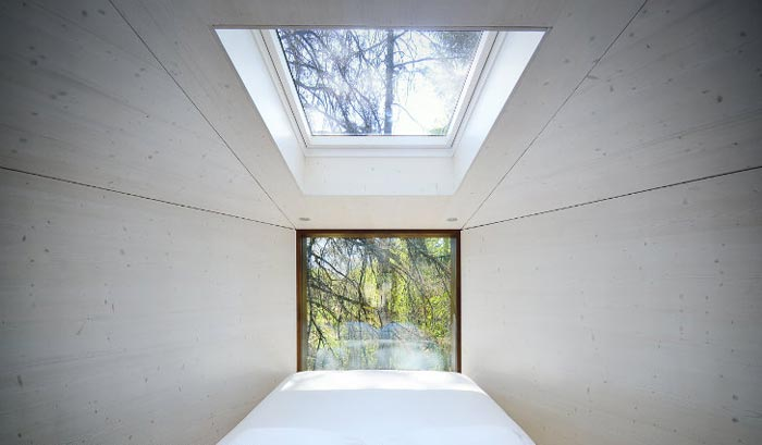 Window and skylight at the Tree Snake Houses in Pedra Salgadas Portugal