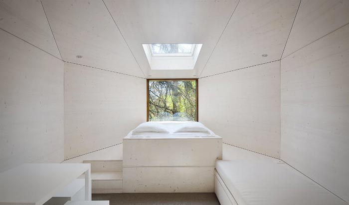 Interior design of the Tree Snake Houses in Pedra Salgadas Portugal