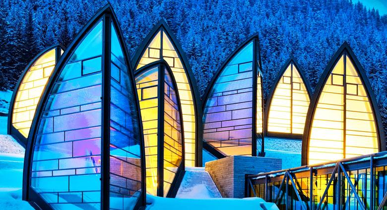 Tschuggen bergoase wellness spa in arosa swiss alps for Architecture suisse
