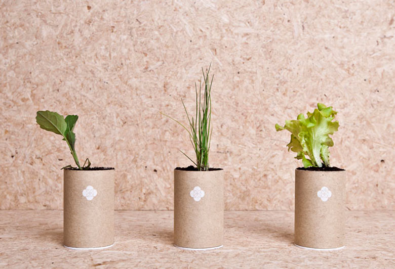 3 plant pots from the Urban Survival Pack by Ryan Romanes