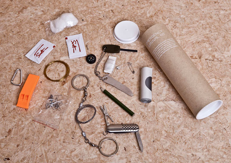 Survival tools from the Urban Survival Pack by Ryan Romanes