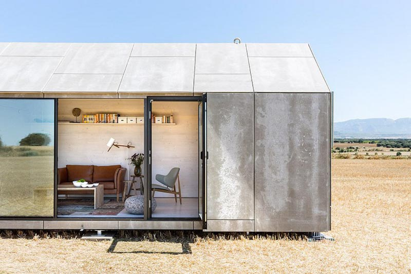 Ph80 portable prefab house by baton for Prefab concrete house