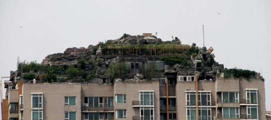 Illegal Mountaintop Villa on the Rooftop of a Beijing High-Rise (VIDEO)