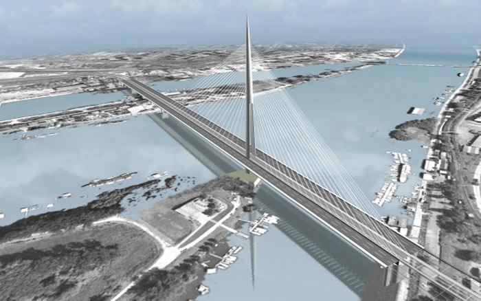Ada Bridge Belgrade Serbia