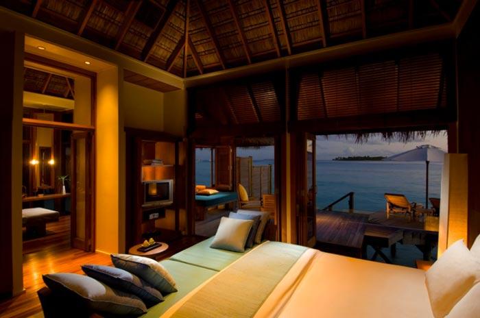 Conrad Maldives Rangali Island Hotel Bedroom suite in a beach villa