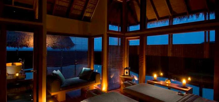 Conrad Maldives Rangali Island Hotel Massage room
