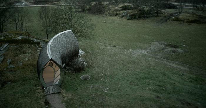 Curved Hus-1 by Torsten Ottesjo Architecture on Jebiga