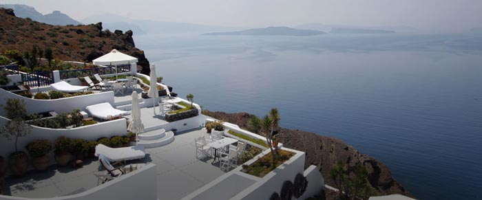 Scenery from the Ikies Traditional Houses in Santorini