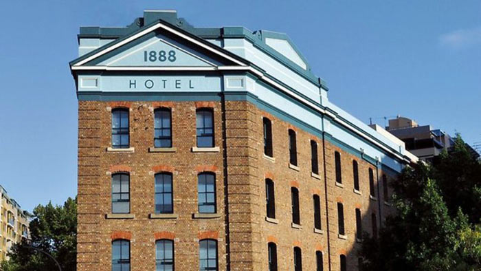 Architecture of the Instagram Hotel - 1888 Hotel in Sydney