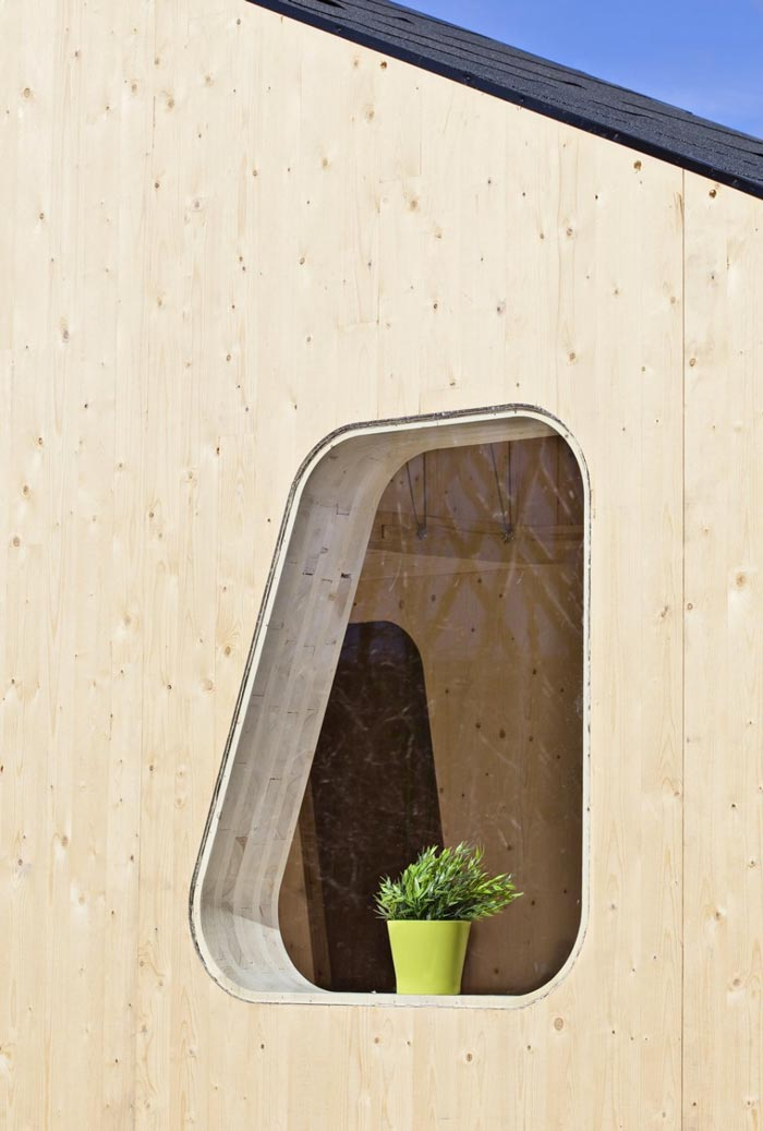 Window of the Micro Cottage for Students at Virserum Art Museum Sweden