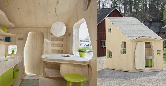 Micro Cottage for Students at Virserum Art Museum Sweden on Jebiga