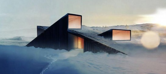 Mountain Hill Ski Cabin by Fantastic Norway Architects